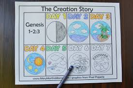 creation coloring pages u2013 mary martha mama