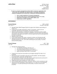 Quality Assurance Resume Example by Facilities Property Manager Cover Letter Within Property Manager
