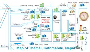 Kathmandu Nepal Map by Himalayan Planet Adventures Kathmandu Phone 00977 01 4701040