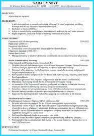 Baseball Resume Template Sample Resume For Administrative Assistant Position Editorial