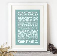 personalised favourite lyrics poster by over u0026 over