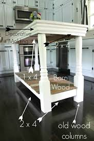 diy kitchen island with salvaged wood