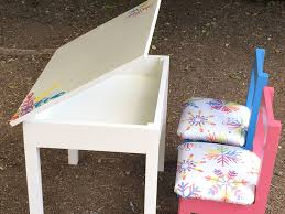 kids table and chairs with storage build an easy diy kids table with storage storage desks and clutter