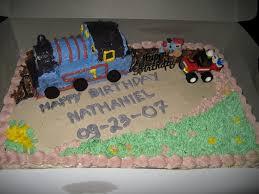 gourmet baking thomas train birthday cake