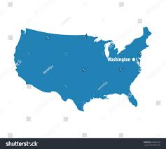 Blank Concept Map by Blank Blue Similar Usa Map Dc Stock Vector 430498129 Shutterstock
