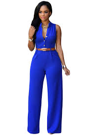 s one jumpsuit arrival royal blue belted wide leg jumpsuit