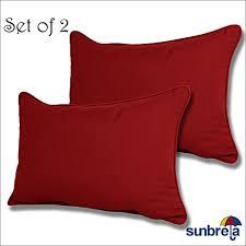 set of 2 sunbrella outdoor indoor lumbar pillows by