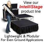 intellistage portable stages by road ready