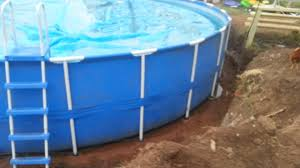 Intex Metal Frame Swimming Pools Install 24 U0027 Round Intex Metal Pole Frame Swimming Pool Inground