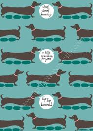 dachshund christmas wrapping paper dachshund cards gift wrap mad about dachshunds