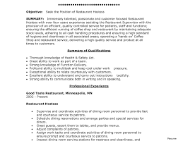 server resume exle server experience resume objective for restaurant hostess sle