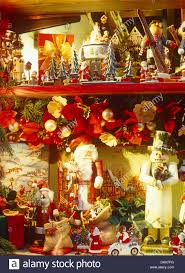Pictures Of Christmas Decorations In Germany Christmas Decorations In A Rothenburg Ob Der Tauber Shop Window