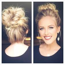 side buns for shoulder length fine hair messy bun for shoulder length hair youtube best ideas of quick bun