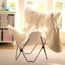 fur chair cover ivory furlicious faux fur butterfly chair pbteen