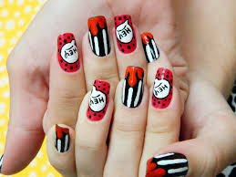 iced lacquer mickey mouse nail art disneyland mickeymouse red dog