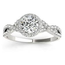 palladium engagement rings twisted infinity halo engagement ring setting palladium 0 20ct