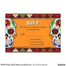 rsvp sugar skull mexican halloween wedding party sugar skull