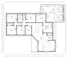 plan maison en l 4 chambres plan maison 140m2 4 chambres