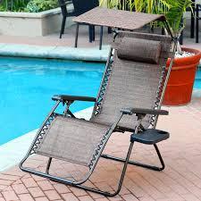Oversized Zero Gravity Lounge Chair Jeco Oversized Zero Gravity Chair With Sunshade And Drink Tray