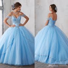 baby blue quinceanera dresses light sky blue gown quinceanera dresses 2017 the shoulder
