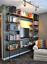 serendipity refined blog diy industrial pipe shelves for the