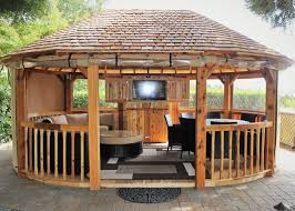Gazebo En Bois Luxury Wooden Gazebos Example Pixelmari Com