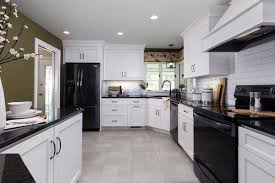 do white cabinets go with black appliances kitchen remodeling atlanta kitchen renovations services
