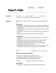 cover letter resume examples social work resume examples for