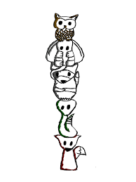 images for totem pole designs animals clip art library