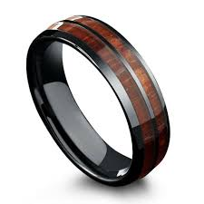 Wood Wedding Rings by 6mm Barrel Ceramic Koa Wood Ring U2013 Northernroyal