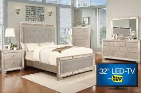 Image Piece Queen Bedroom Set With  LEDTV - Gardner white furniture bedroom set
