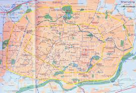 China Province Map China Shenyang Map City Layout Streets
