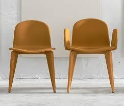chaises fauteuil blaine r ensemble fauteuil chaise en hêtre laqué et tissu