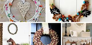 9 of the best acorn wreaths and garlands to make pillar box blue