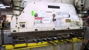 cincinnati 9 8 mechanical press brake youtube