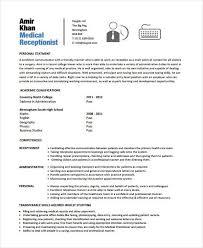 Receptionist Resume Template Free Receptionist Resume Templates Unforgettable Receptionist Resume