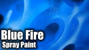 realistic flames blue fire with spray paint youtube