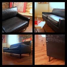 1950 Modern Furniture by Vintage Midcentury Modern Sofa Fabulous Black Faux Leather U2026 Flickr