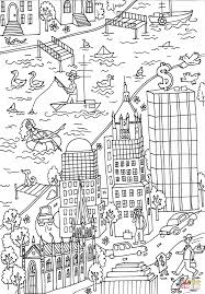 trinity church and wall street building coloring page free