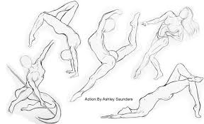 human body sketches with pencil