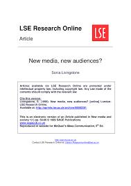 new media new audiences