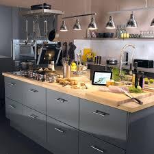 meuble cuisine acier design d intérieur meuble cuisine acier de gris delinia et