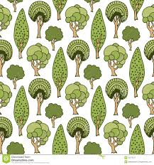 cute trees hand drawn seamless pattern with green doodle trees cute summer