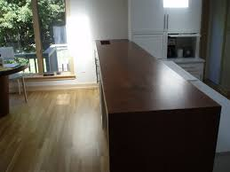 Laminate Flooring As Countertop Premium Wide Plank Waterfall Style Brooks Custom