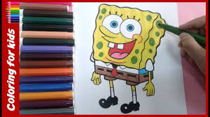 spongebob squarepants coloring pages how to color spongebob