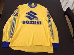 signed motocross jerseys vintage 80s suzuki motocross dirt bike mx racing jersey size