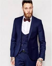 costume bleu marine mariage veste pantalon gilet cravate marine bleu 3 pièces de