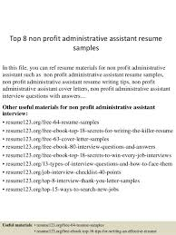 Non Profit Resume 100 Resume Examples Executive Assistant Resume Samples Uva