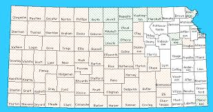 map of counties in kansas gravity and magnetics of kansas county index map