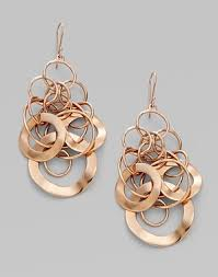 Rose Gold Chandelier Earrings Ippolita Rose Link Chandelier Earrings Snob Essentials